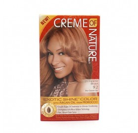 CREME OF NATURE ARGAN COLOR LIGHT CAREMEL BROWN 9 2