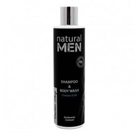 NATURAL MEN BS CHAMPÚ & BODY WASH 250ML