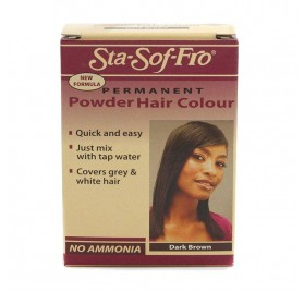 STA SOFT FRO POWDER HAIR COLOR DARK BROWN 6G