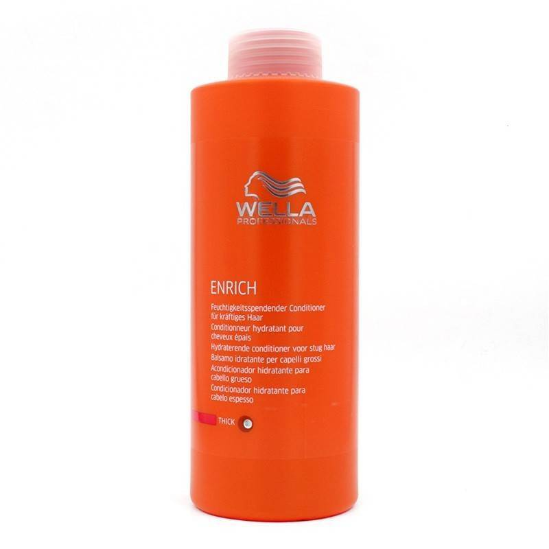 Wella Enrich Shampoo Conditioner Thick Hair 1000 Ml