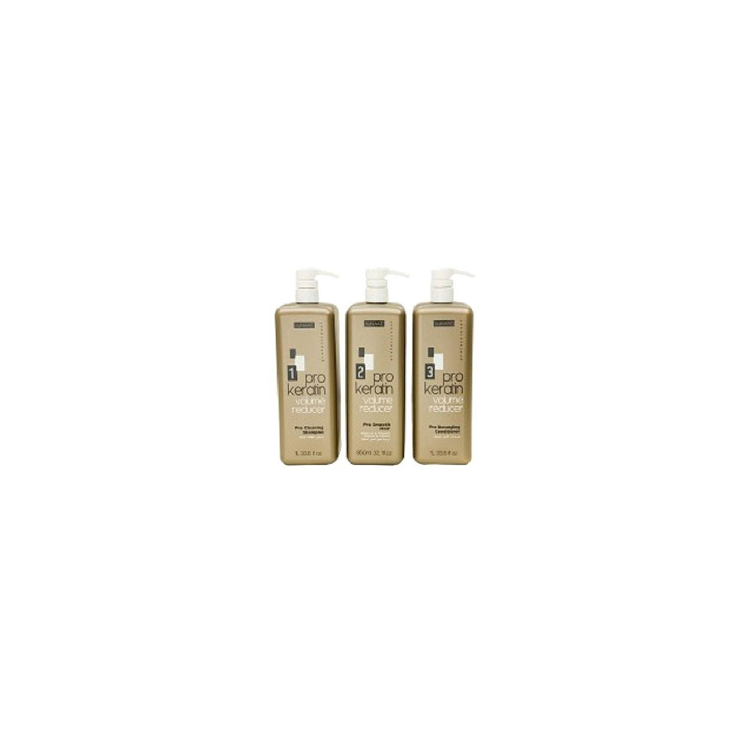 Nunaat Kit Pro Keratin Volumen Reducer 1000 Ml 1-2-3