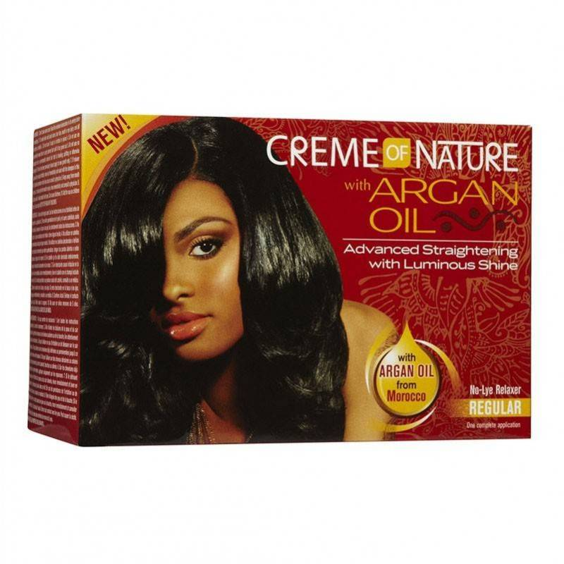 Cream Of Nature Argan Oil Relaxer Kit Regular
