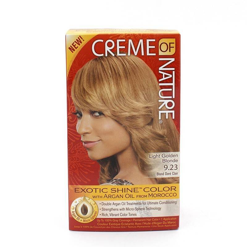 Cream Of Nature Argan Color Light Golden Blond 9 23