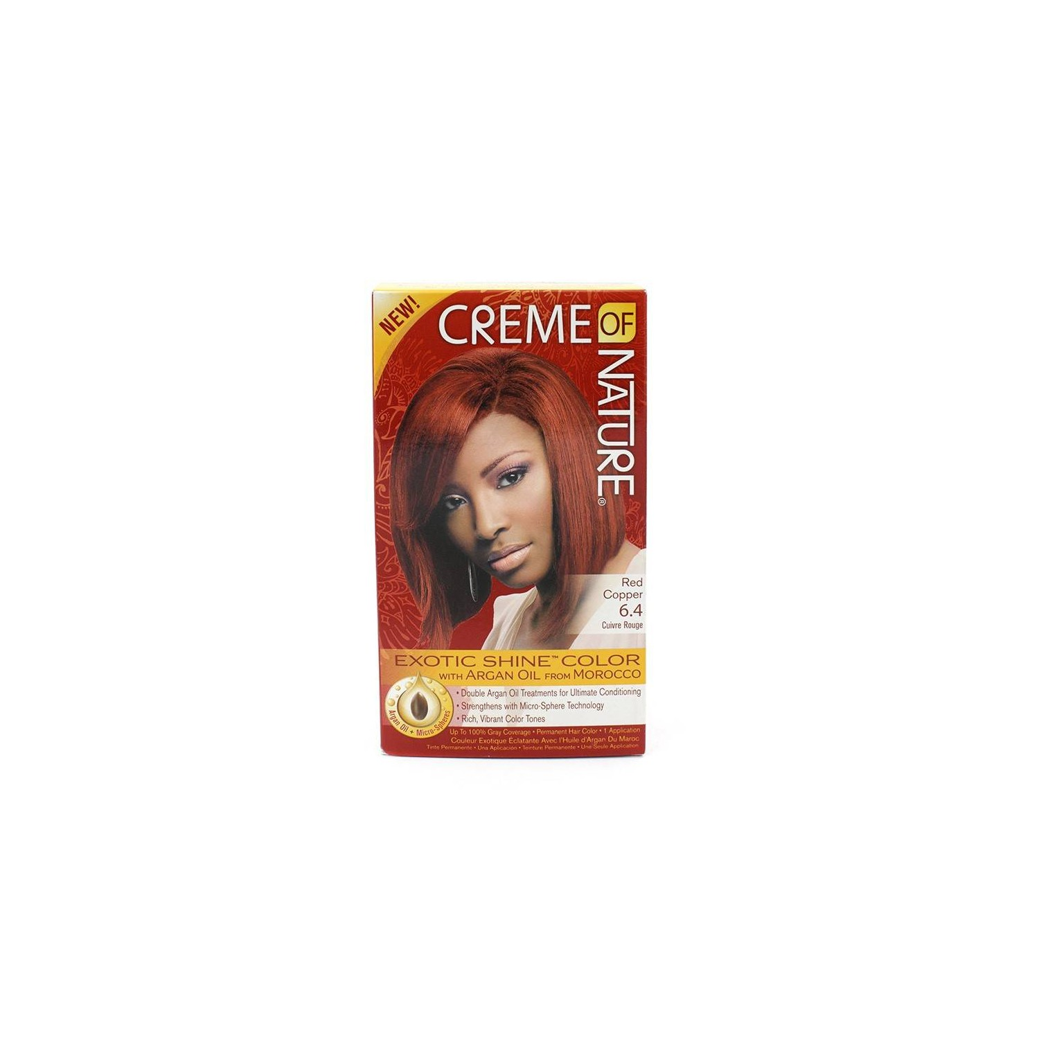 Cream Of Nature Argan Color Red Copper 6.4