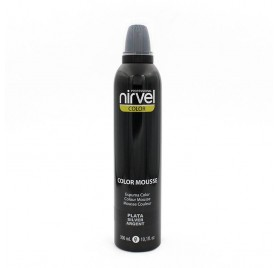 NIRVEL COLOR MOUSSE PLATA 300 ml