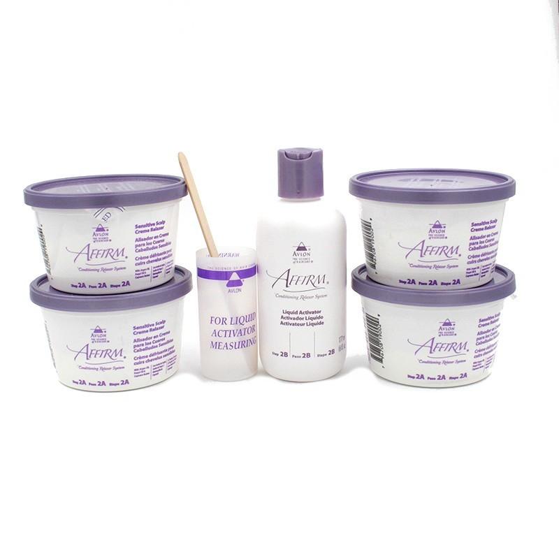 Avlon Affirm Sensitive Scalp Relaxer Kit 4 Aplicaciones
