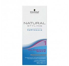 SCHWARZKOPF NATURAL STYLING GLAMOUR WAVE KIT (1) 80 + 100 ml