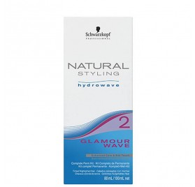 SCHWARZKOPF NATURAL STYLING GLAMOUR WAVE KIT (2) 80 + 100 ml