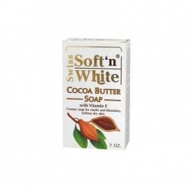 Soft'n White Swiss Cocoa Butter Soap 200g