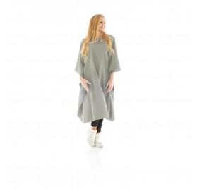 Xanitlia Pro Gray HD Polyester Court Cape 130x150 cm. 6 Button Closure