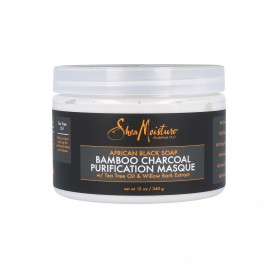 Shea Moisture African Black Soap Bamboo Charcoal Mascarilla 12Oz/340G