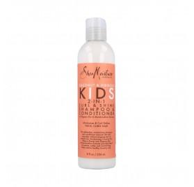 Shea Moisture Coconut & Hibiscus Kids 2-In-1 Shampoo & Conditioner 8Oz/236 ml
