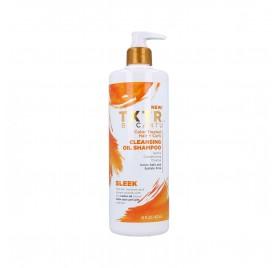 Cantu Txtr Sleek Cleansing Oil Shampooing 473 ml (Cheveux Teints+Bouclés)