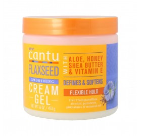 Cantu Flaxseed Smoothing Crème Gel Souple Fort 16Oz/453G