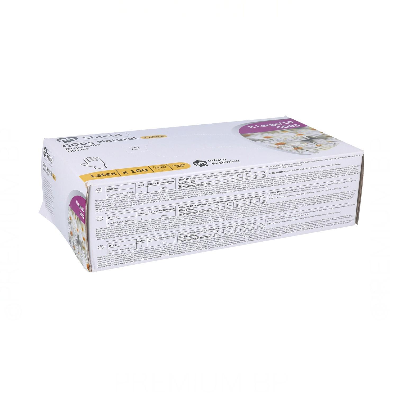 Guantes Latex Gd45 X-Large-Xl White 100U (With Powder)