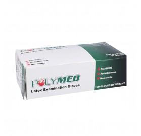 Polymed Gloves Latex White 100U Large/L