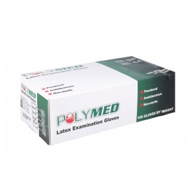 Polymed Gloves Latex White 100U Small/S