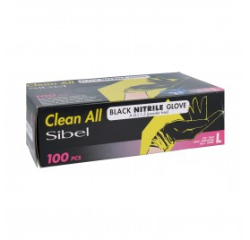 Sinelco Clean All Sibel Gloves Nitrile 100U Black Big/L