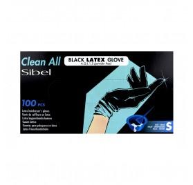 Sinelco Sibel Gloves Latex 100U Black Little/S