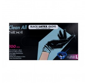 Sinelco Sibel Gloves Latex 100U Black Big /L