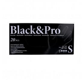 Sinelco Black & Pro Gloves Latex 20U Black/Small-S