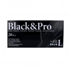 Sinelco Black & Pro Gloves Latex 20U Black/Big-L