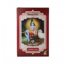 Radhe Shyam Henna Poudre Châtain Acajou 100G