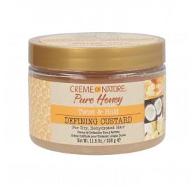Crème De Nature Pure Honey Twisted & Hold Defining Custard 326 g
