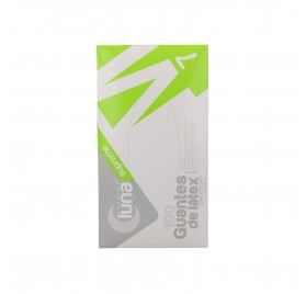 Omare Luna White Latex Gloves Powder Free Size M 100 units