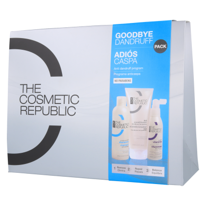 The Cosmetic Republic Pack Goodbye Dandruff (Shampoo/ConditionerVitamins)