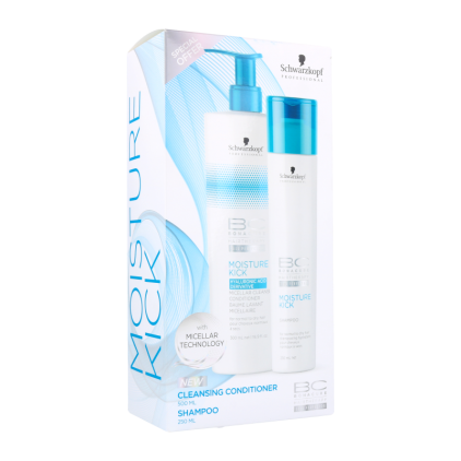 Schwarzkopf Bonacure Moisture Kick Pack (Shampoo+Conditioner Cleaner)